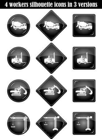 set builders outline vector Vector