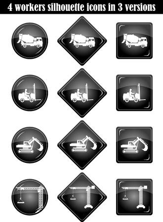 set builders outline vector Ilustracja