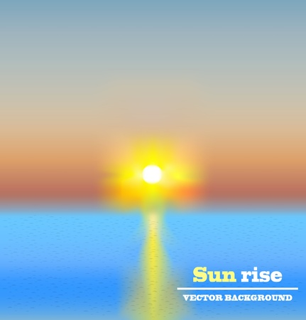 tranquility: sun rise background vector