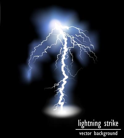 electric shock: vector lightning flash strike background