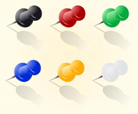 prick: push pin set
