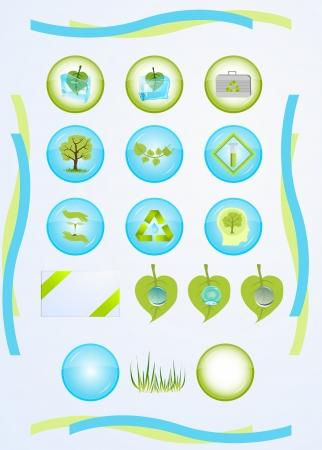 evaporacion: conjunto de iconos para las tecnolog?as verdes Vectores