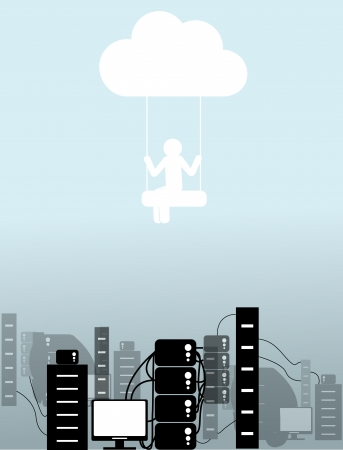 clouding: the person on a cloud