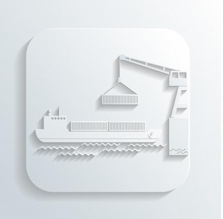 overseas: shipment icon Illustration