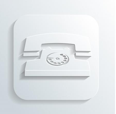 vintage phone icon Stock Vector - 22244062