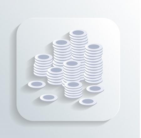 money coins icon Stock Vector - 22244069