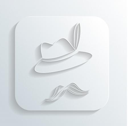Oktoberfest hat mustache icon Illustration