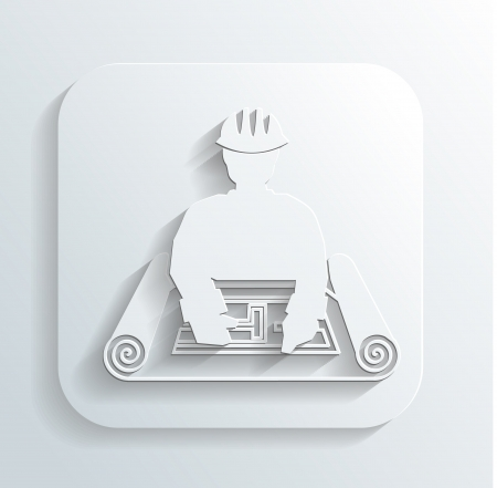 drafting tools: engineer for the project icon Illustration