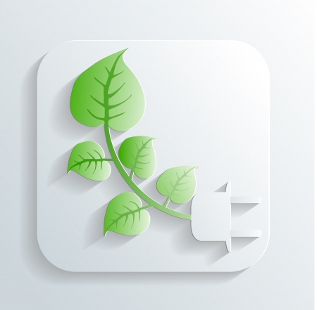 branch with leaves icon Stock Vector - 22243807