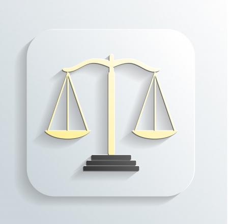 judicial system: icono de las escalas de la justicia