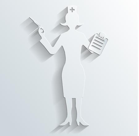 injection woman: nurse