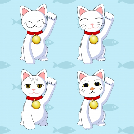 fortune cat: Maneki neko cats