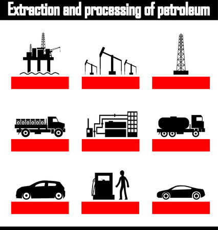 distillation: extraction and processing of petroleum