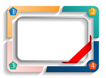 frame with numbers Vector