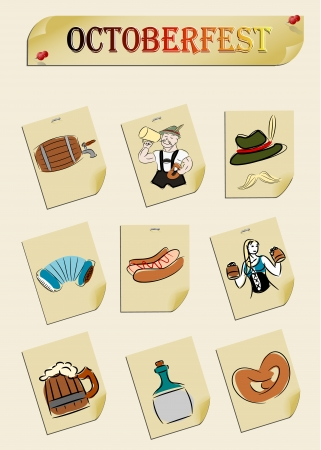 lederhosen: set of subjects for octoberfest Illustration