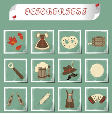 set of subjects for octoberfest Vector
