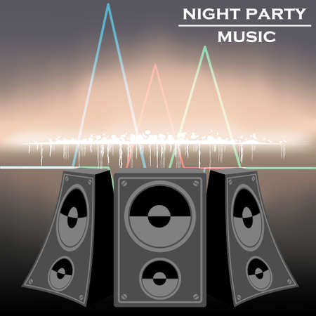 night party music vector Vector