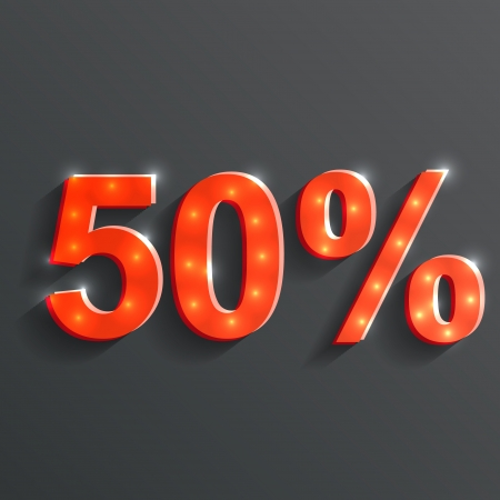 vector icon of the 50% Vector