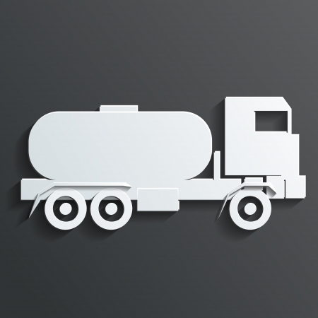Tanker trucks vector Vector