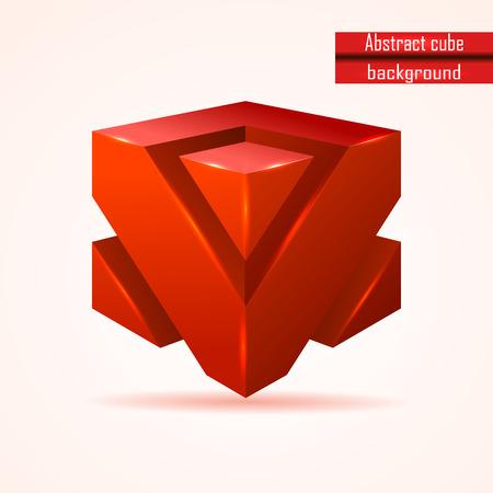 red cube: astratto rosso cubo di vettore