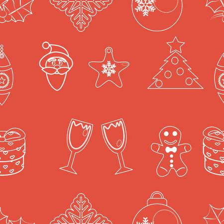 seamless pattern christmas vector Vector