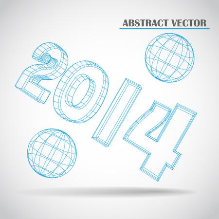feliciter: 2014 3d vector
