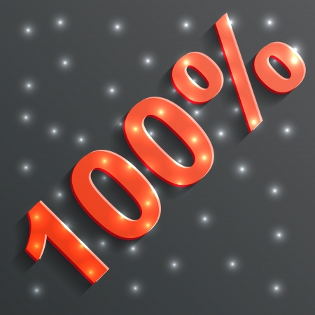 vector icon of the 100% Vector