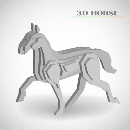 dimensions: horse 3d vector