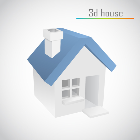 3d vector home Stock Vector - 22681394