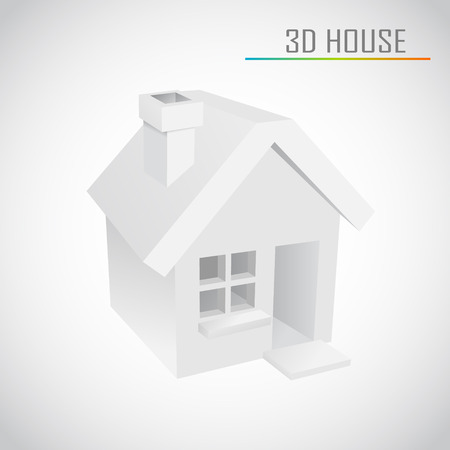 3d vector home Stock Vector - 22681395