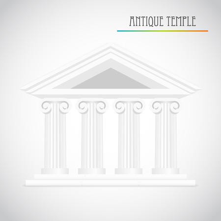 law library: ancient columns vector Illustration