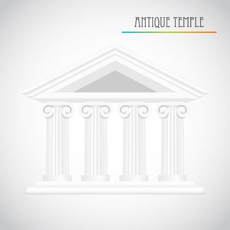 derecho romano: antigua vector columnas