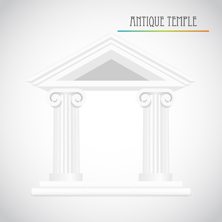 ancient columns vector Stock Vector - 22806712