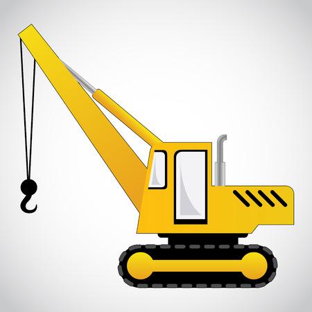 truck crane: crane vector Illustration