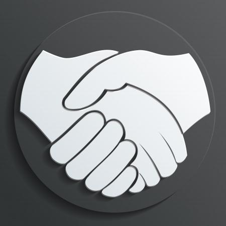 manos trabajo: handshake icono del vector Vectores