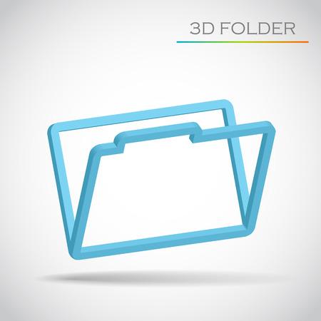 3d folder vector Vector