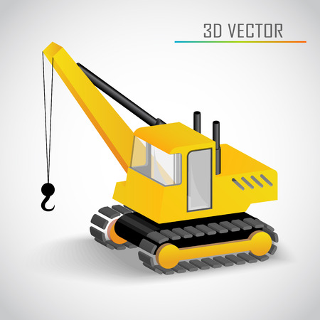 crane tower: crane 3d vector