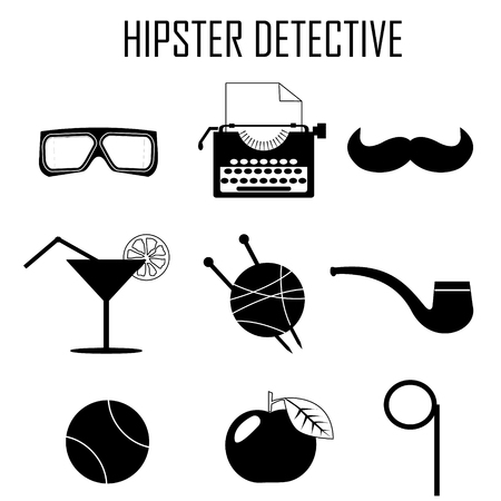 hipster detective icon vector Vector