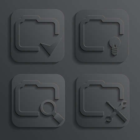 file folders: 3d folder vector