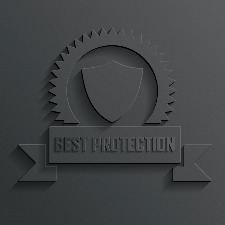shield and ribbon vector Vector