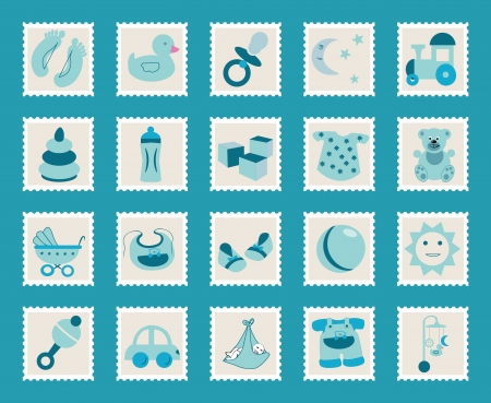 set of icons for kids Vector
