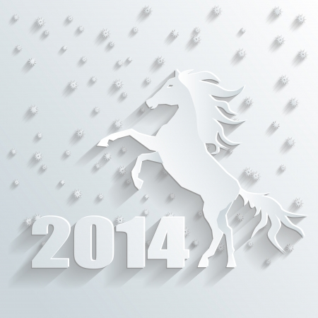 new year 2014 horse vector Vector