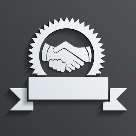 handshake: handshake icon vector