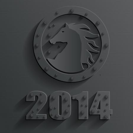 new year 2014 horse vector Vector