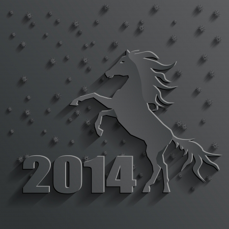 new year 2014 horse vector Stock Vector - 23330659