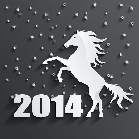 new year 2014 horse  Vector