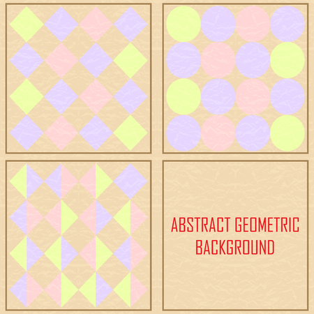 abstract geometric Vintage background Stock Vector - 23634862