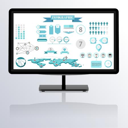 infographics vector Illustration