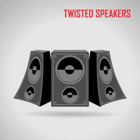 loud speaker: Music speakers vector Illustration