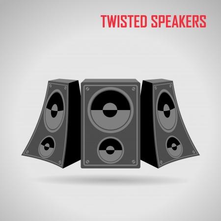 disco speaker: Music speakers vector Illustration